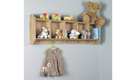 Photography of Amelie Oak Wall Shelf With Hanging Pegs