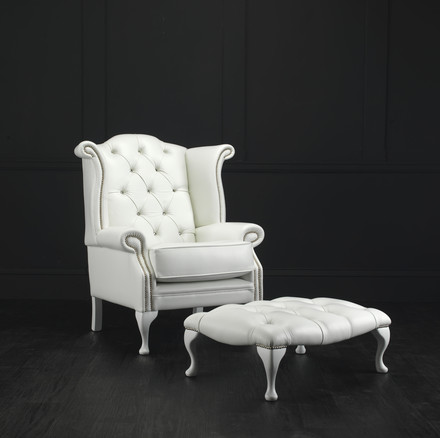 Chatsworth Chesterfield Chair with Footstool