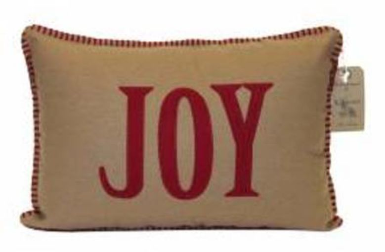 Joy Embroidered Cushion