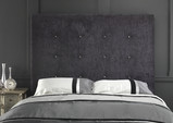 Photography of Luxury Velvet Crystal Buttoned Headboard