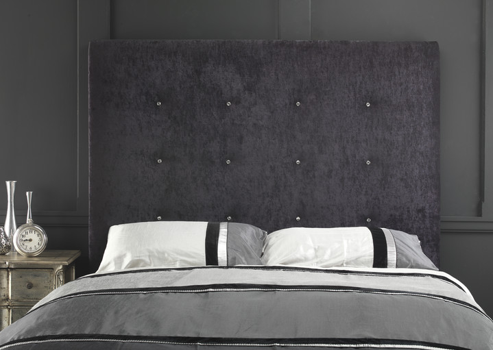 Luxury Velvet Crystal Buttoned Headboard