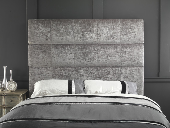Luxury Velvet Square Pattern Headboard