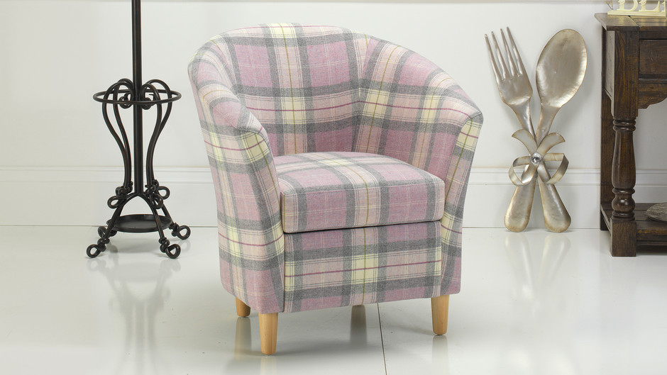 tartan tub chair russkell furniture