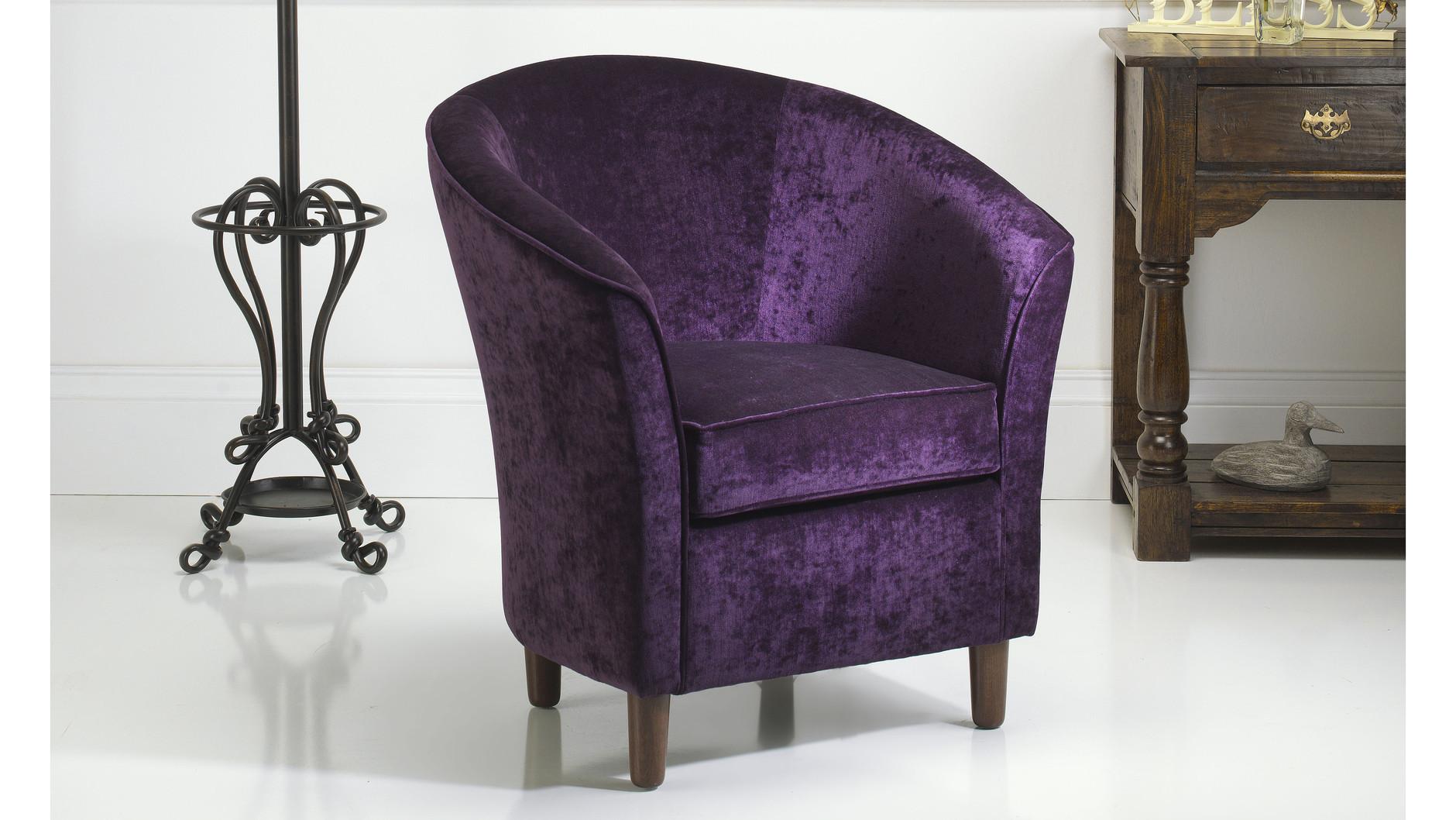 Purple Tub Chair  Russkell Furniture