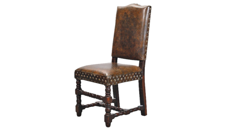 Studded Leather Dining Chair