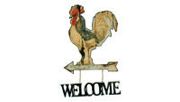 Photography of Cockerel Welcome Sign