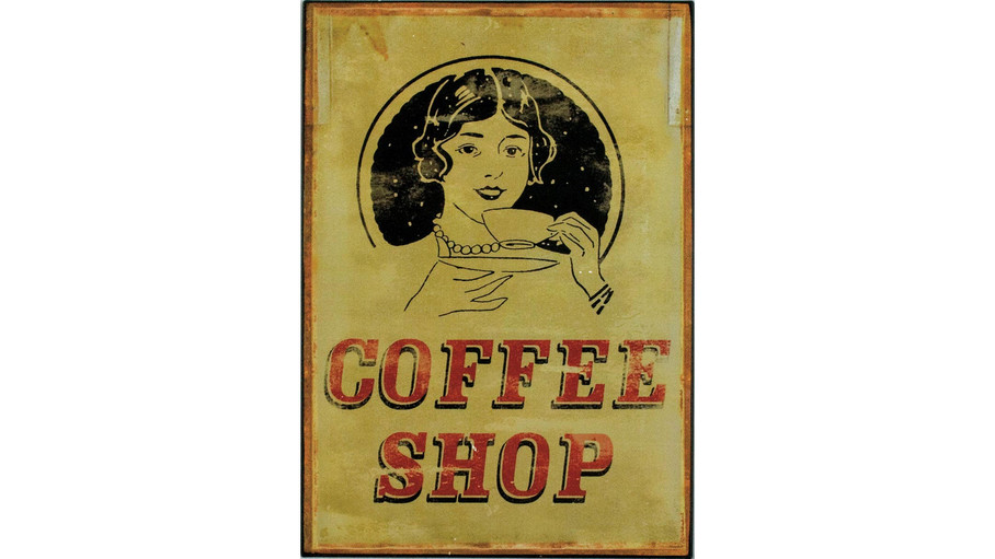'Coffee Shop' Tin Plaque