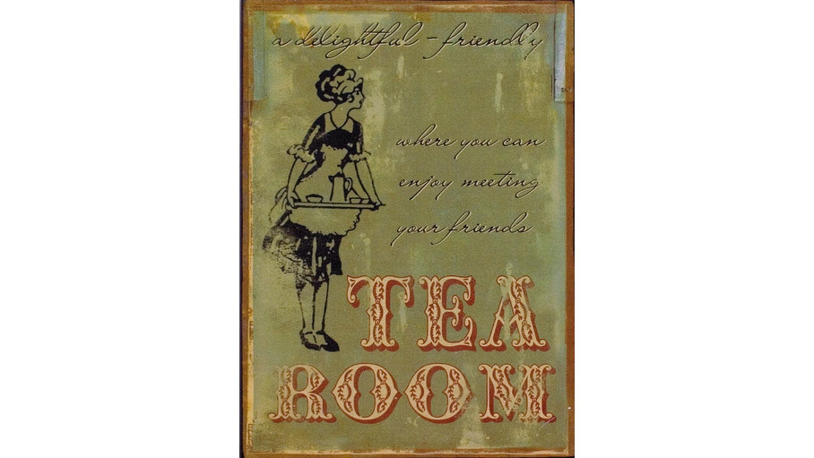 Tea Room Plaque