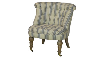 Striped Occasional Chair